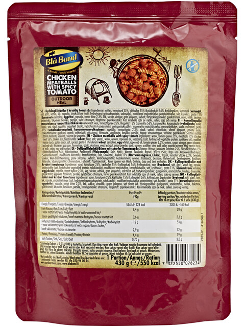 Bla Band Outdoor Meal Chicken Meatballs with spicy Tomato Sauce 430g